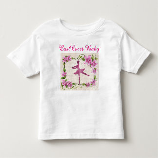 Flor de la danza de la bailarina de la música del camiseta de bebé