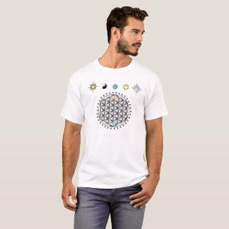 Flor de la divinidad de la vida en camiseta de la