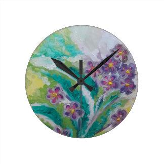 Flor de la flor reloj redondo mediano