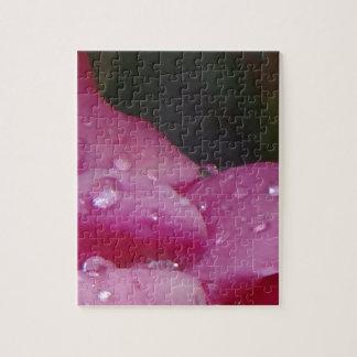 Flor de la gota de lluvia puzzle