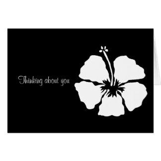 Flor de la hawaiana del estilo del hibisco tarjeta de felicitación