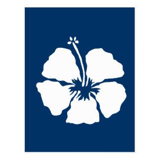 Flor de la hawaiana del estilo del hibisco tarjeta postal