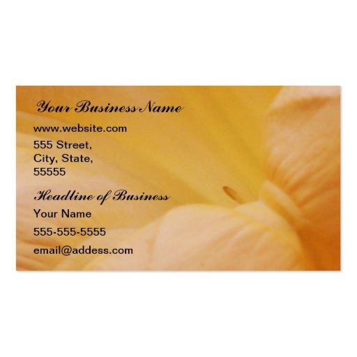 Flor de la luna del melocotón plantillas de tarjetas personales