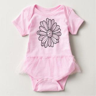 Flor de la margarita body para bebé