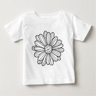 Flor de la margarita camiseta de bebé