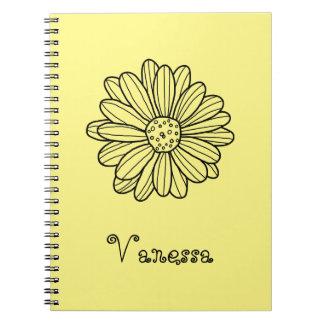 Flor de la margarita cuaderno