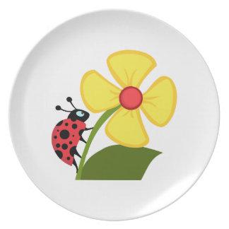 Flor de la mariquita platos de comidas