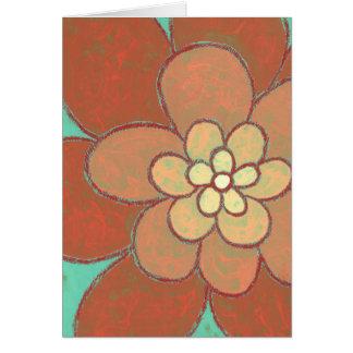 Flor de la moda del Hippie Tarjeta De Felicitación