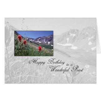 Flor de la montaña del sacerdote de 3615 tarjeta de felicitación