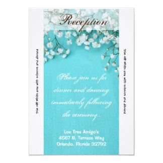 flor de la respiración de Babys de la primavera de Invitación 12,7 X 17,8 Cm