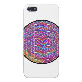 Flor de la vida (color 2) iPhone 5 carcasas