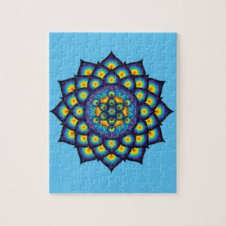 Flor de la vida con el cubo de Metatron Puzzle