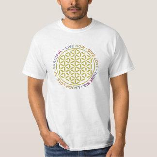 Flor de la vida con reglas de vida camiseta