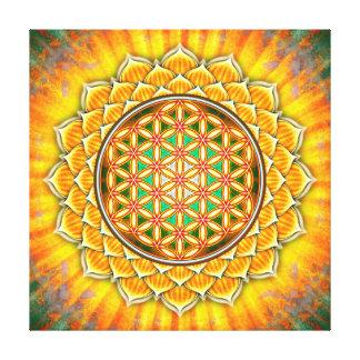 Flor de la vida - loto Amarilla Lienzo