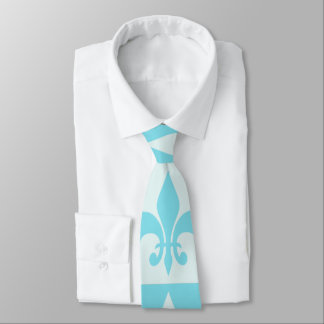 Flor de lis azul corbatas personalizadas