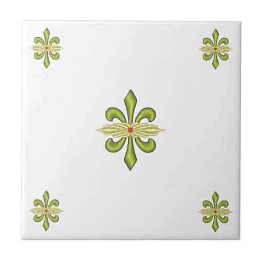 Flor de lis azulejos ceramicos