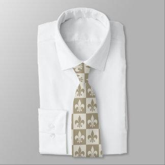 Flor de lis beige corbatas
