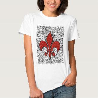 flor de lis camisetas
