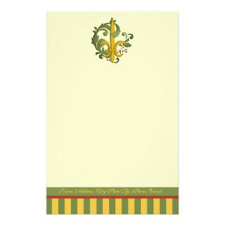 Flor de lis de la voluta del navidad papeleria de diseño