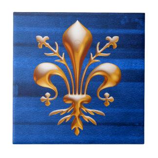 Flor de lis (de Lys) Azulejo Cuadrado Pequeño