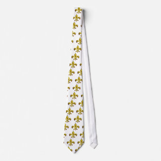 Flor de lis de oro;   Serie de ZazzleRocks Corbata