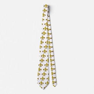 Flor de lis de oro;   Serie de ZazzleRocks Corbatas