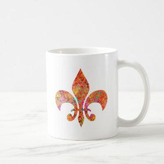 Flor de lis del diseñador de la estrella del arce taza