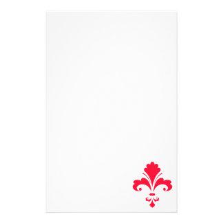 Flor de lis del rojo del escarlata  papeleria de diseño