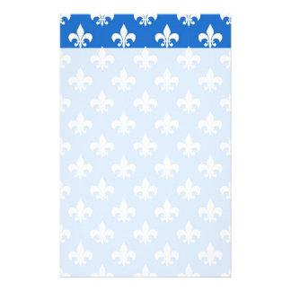 Flor de lis en azul  papeleria