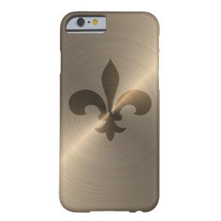 Flor de lis en oro funda para iPhone 6 barely there