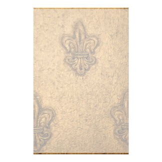 Flor de lis francesa texturizada papelería de diseño