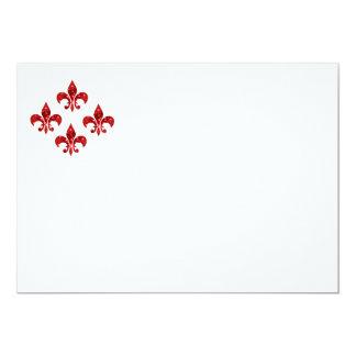 Flor de lis invitación 12,7 x 17,8 cm