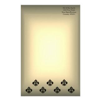 Flor de lis metálica (negro) papeleria