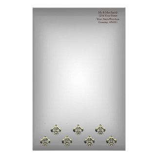 Flor de lis metálica (oro) papelería
