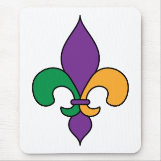 Flor de lis Mousepad del carnaval