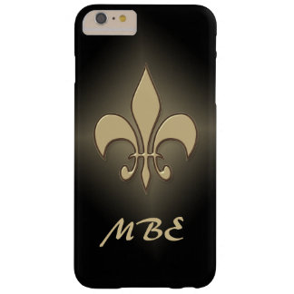 Flor de lis negra del oro funda barely there iPhone 6 plus