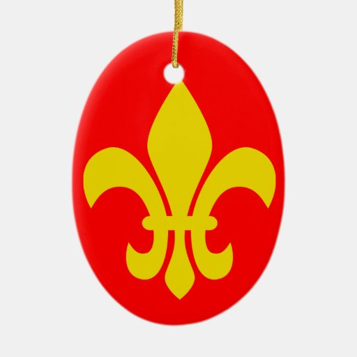 Flor de lis * ornamento del navidad de Francia Adornos De Navidad