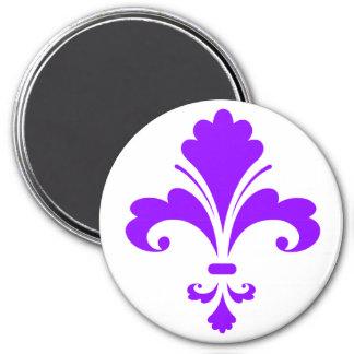 Flor de lis púrpura violeta imán para frigorifico