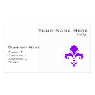 Flor de lis púrpura violeta tarjeta de visita