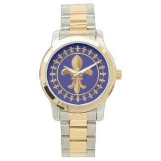 Flor de lis relojes de pulsera
