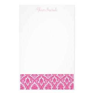 Flor de lis rosada  papeleria de diseño