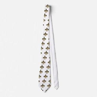 Flor de lis, texto adaptable corbatas personalizadas