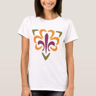 Flor de lis y triángulo #1 camiseta