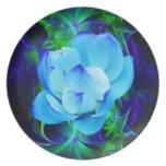 Flor de loto azul y su significado plato para fiesta