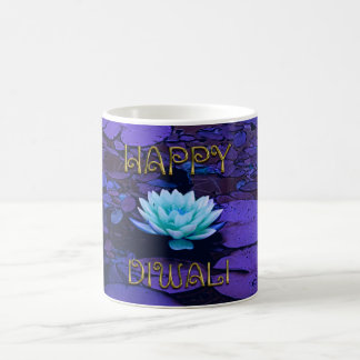 Flor de Lotus floral púrpura de la tipografía Taza De Café