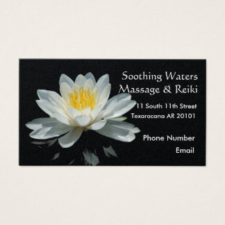 Flor de Lotus flotante Tarjeta De Visita