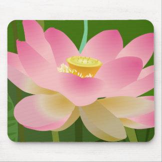 Flor de Lotus rosada Alfombrilla De Ratón