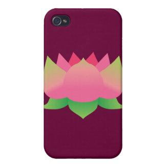 Flor de Lotus rosada iPhone 4/4S Carcasa
