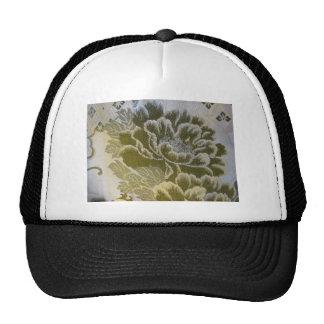 Flor de lujo del oro gorra