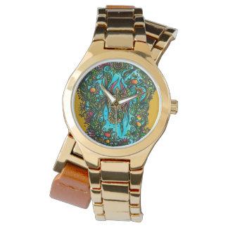 Flor de Phoenix Reloj